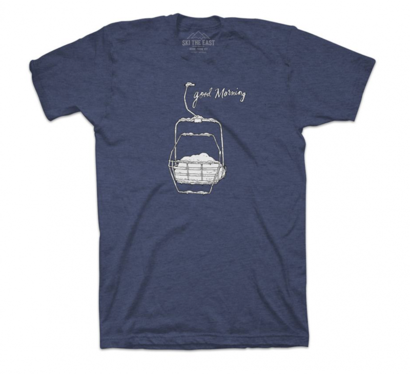 Image 0 of SKI THE EAST - Womens Good Morning Tee, Large only - Midnight Navy - 2019