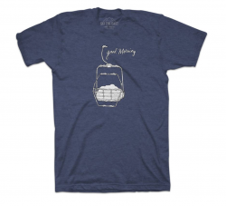 SKI THE EAST - Womens Good Morning Tee, Large only - Midnight Navy - 2019
