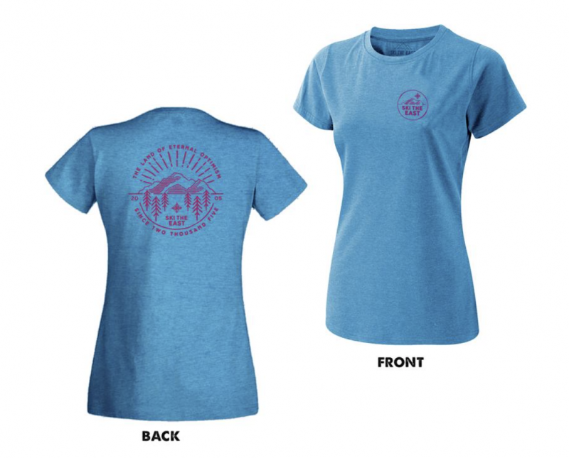 Image 0 of SKI THE EAST - Womens Eternal Tee - Ice Blue 2019