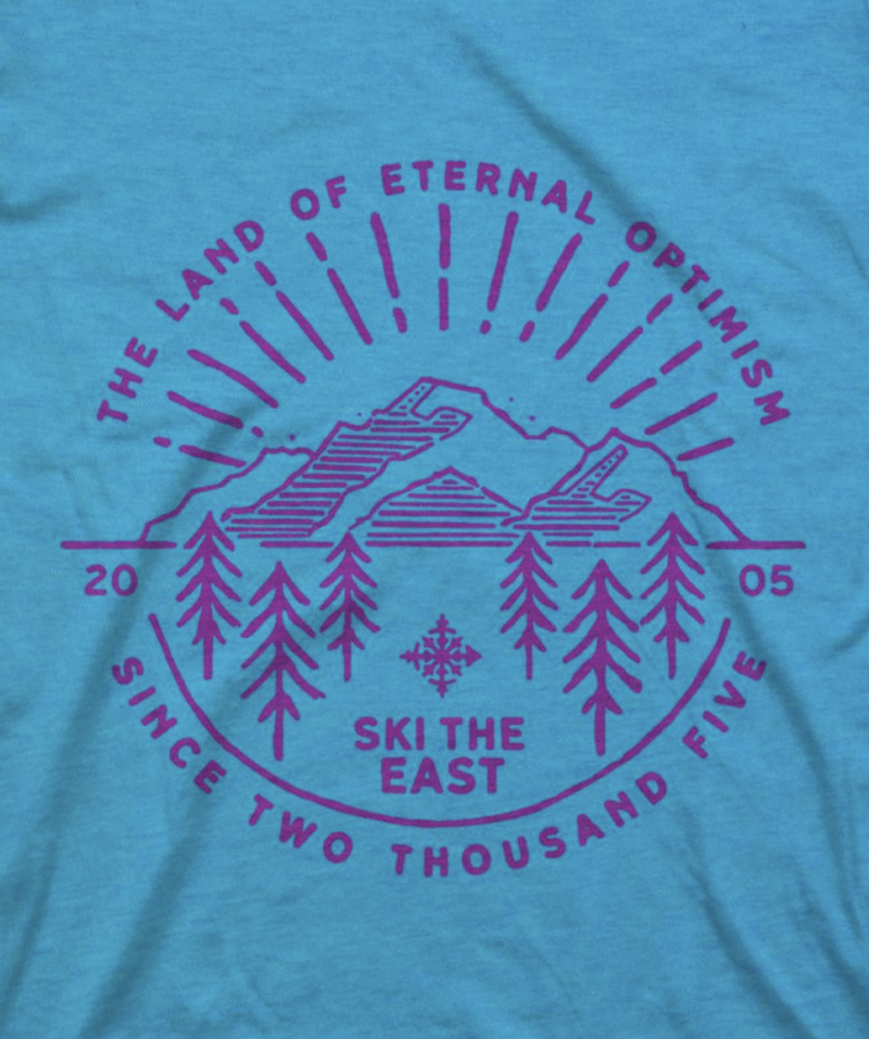 Image 1 of SKI THE EAST - Womens Eternal Tee - Ice Blue 2019