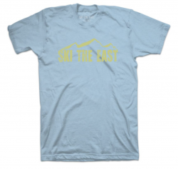 SKI THE EAST - Youth Vista Tee - Ice Blue 2019