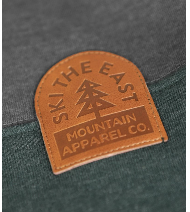 Image 2 of SKI THE EAST - Crawford Pullover Hoodie - Charcoal/Forest 2020