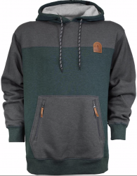 SKI THE EAST - Crawford Pullover Hoodie - Charcoal/Forest 2020