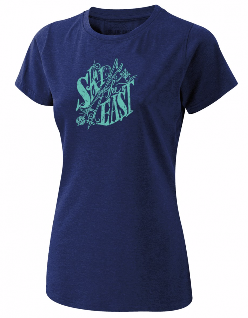 Image 0 of SKI THE EAST - Womens Rangeley Tee - Navy 2020