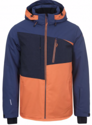 ICEPEAK - CARVER SKI JACKET MENS, NAVY/ORANGE