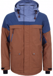 ICEPEAK - CLARKSON SKI JACKET, BROWN/BLUE - 2020