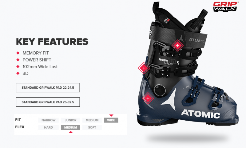 Image 1 of ATOMIC - HAWX MAGNA 100 BLACK/ANTHRACITE/RED BOOTS -2021
