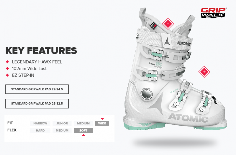Image 1 of ATOMIC - HAWX MAGNA 85 WOMENS WHITE/MINT BOOTS - 2021