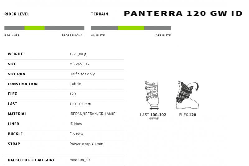 Image 1 of DALBELLO - PANTERRA 120 GW BOOTS, 26.5 only - 2021
