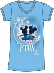Disney Mickey and Minnie Mouse To The Moon and Back Nightshirt