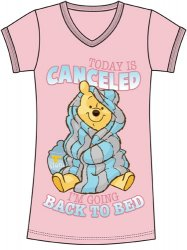 Disney Pink Winnie The Pooh I'm going back to bed. Nightshirt