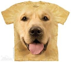 Printed Tan Golden Retriever Big Face T-Shirts, Dog Lover Gift, Made in USA