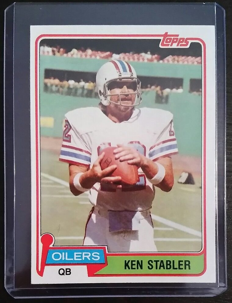 Kenny The Snake Stabler  1981 Topps  Oilers
