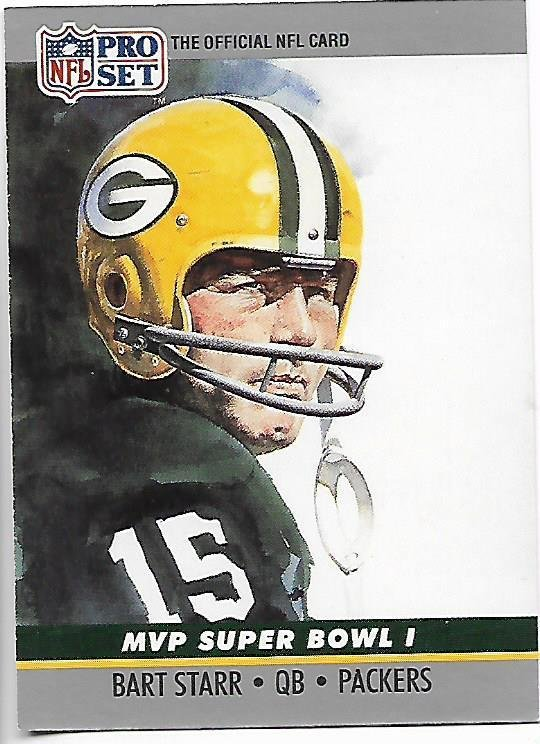 Image 0 of Bart Starr MVP Super Bowl I 1990 Pro