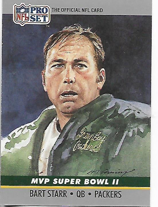 Image 0 of Bart Starr MVP Super Bowl II 1990 Pro