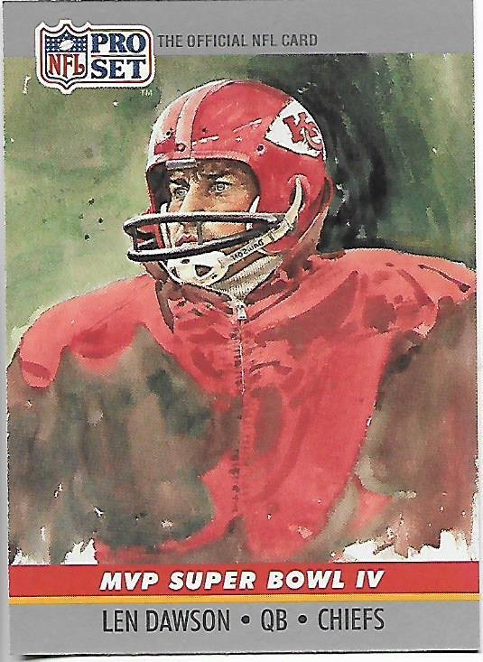 Len Dawson MVP Super Bowl II 1990 Pro