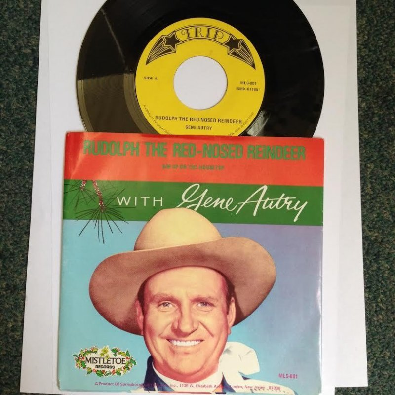 Image 0 of Gene Autry 45 With Picture Sleeve  Rudolph The Red Nosed Reindeer