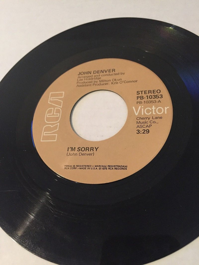 Image 0 of John Denver 45  I'm Sorry/Calypso