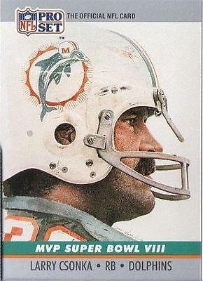 Image 0 of Larry Czonka 1990 Pro Card MVP Super Bowl VIII