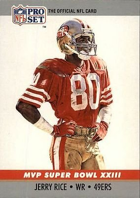 Jerry Rice 1990 Pro Card MVP Super Bowl XXIII