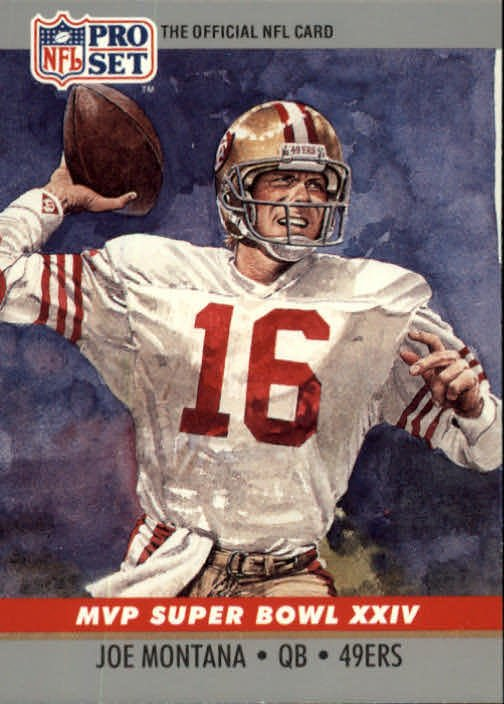 Joe Montana MVP Super Bowl XXIV 1990 Pro