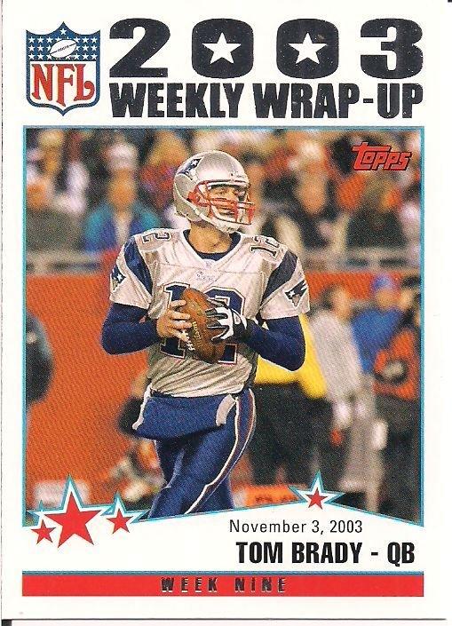 Image 0 of Tom Brady 2004 Topps 203 Wrap-Up Week Nine