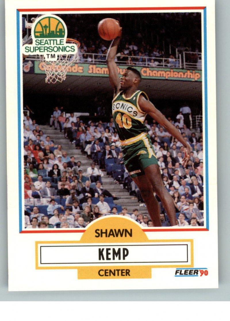 Shawn Kemp 1990 Fleer