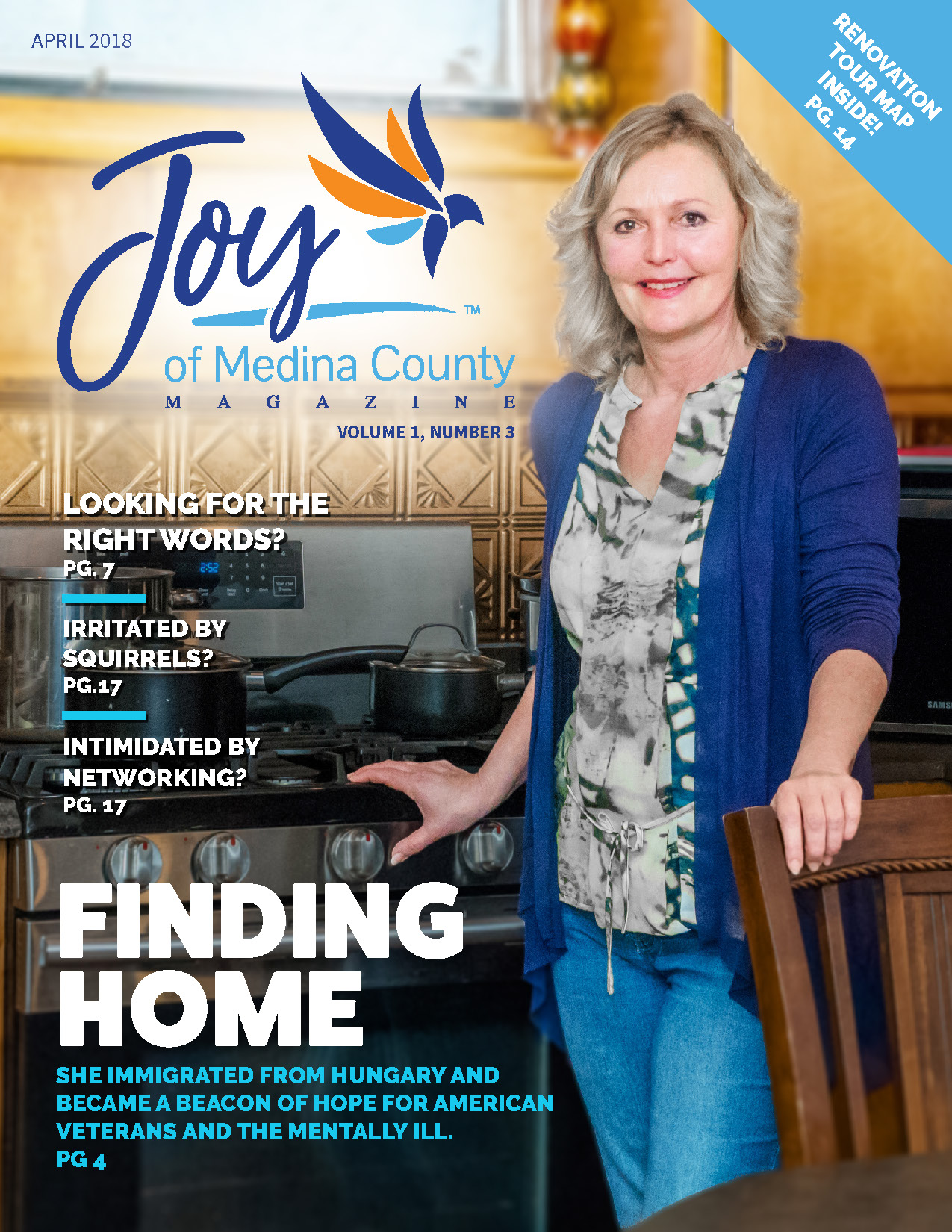 Joy of Medina County Magazine April 2018 issue.