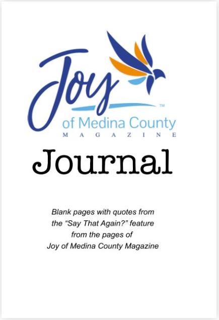 Joy of Medina County Magazine Journal