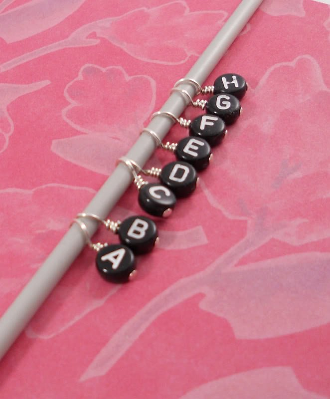 Image 0 of Alphabet Letter Knitting Stitch Markers