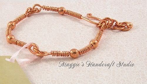 Image 0 of Artisan Copper Wire Adjustable Bangle Bracelet