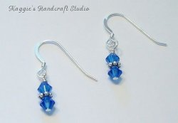 Austrian Crystal Sterling Silver Spacer Earrings - Choice of Colors