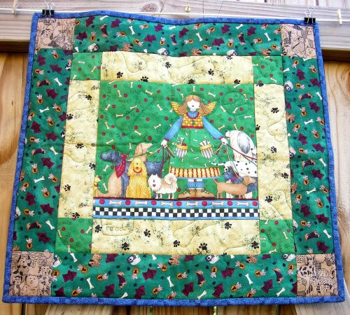 Image 0 of Dog Angel Quilt