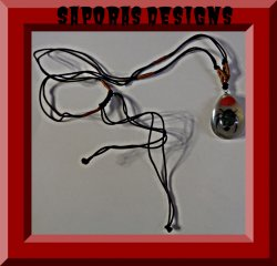 Amber Style Real Bug Insect Necklace With Black & Brown Rope Chain