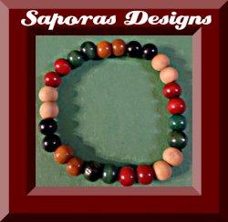 Handmade Colorful Wood Prayer Bracelet Religious Jewelry