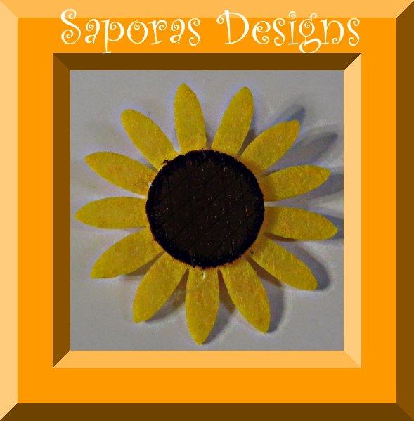 Image 0 of Handmade Sunflower Design Brooch