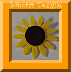 Handmade Sunflower Design Brooch