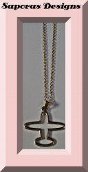 Gold In Color Airplane Design Necklace