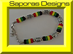 Colorful Beaded Bracelet Bob Marley Style Unisex