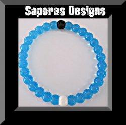 Blue Silicone Bracelet Medium In Size Unisex