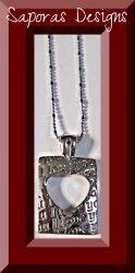 18KRP I Love You Heart Design Necklace