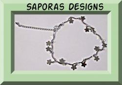 18KRP Flower Design Anklet