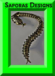 Antique Bronze In Color Centipede Design Ear Cuff Earring Unisex Punk Rock Biker