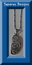 Little Boy Angel With Hearts Design Necklace 18KRP