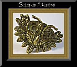 Antique Owl Design Ring Size 6 & Adjustable To Fit Most Fingers