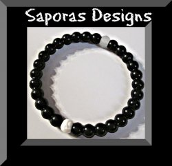 Black Silicone Bracelet Unisex Medium