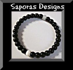 Black Silicone Bracelet Unisex Medium