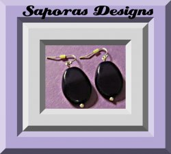 Dark Purple Beaded Dangle Earrings With Silver Tone Finish Simple Style