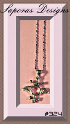 18KRP Necklace With Angel Wings Cross & Crown Designs