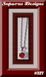 18KRP Necklace With Red Crystal